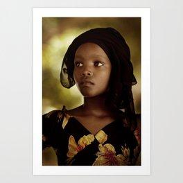 Lamu Girl Art Print