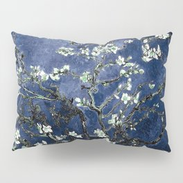 Vincent Van Gogh Almond Blossoms Dark Blue Pillow Sham
