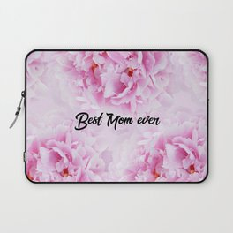 Pink Peonies Dream - Best Mom Ever #1 #floral #decor #art #society6 Laptop Sleeve