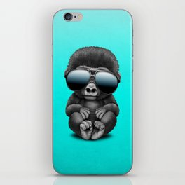 Cute Baby Gorilla Wearing Sunglasses iPhone Skin