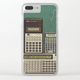 Casio Calculators...the good old days. Clear iPhone Case