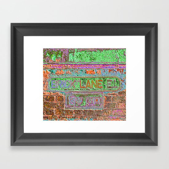 Brick Lane 3 B Framed Art Print