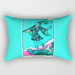 0. The Fool- Neon Dreams Tarot Rectangular Pillow