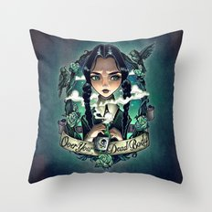 OVER YOUR DEAD BODY Throw Pillow