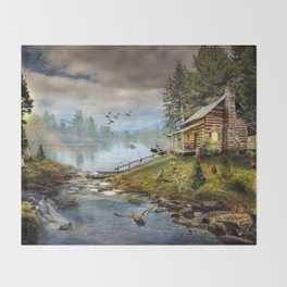 Wildlife Landscape Throw Blanket