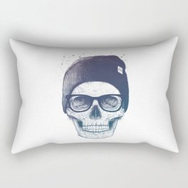 Color skull in a hat Rectangular Pillow