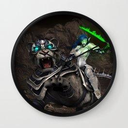 Moon elf beast rider Wall Clock