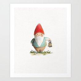 Lantern Gnome Art Print