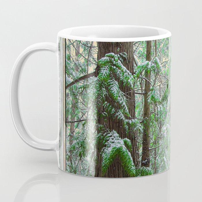 SUNSET SNOW IN CEDARS Coffee Mug