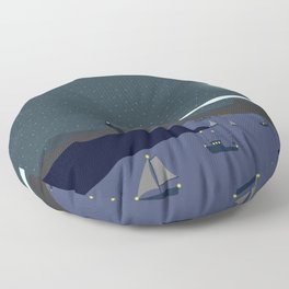 Sea by night Floor Pillow