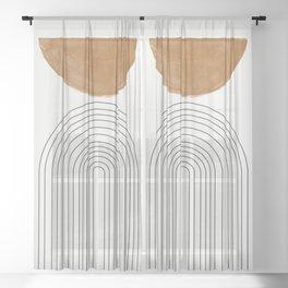 Minimalist Space Sheer Curtain