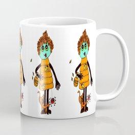 Beehive with Cat Coffee Mug