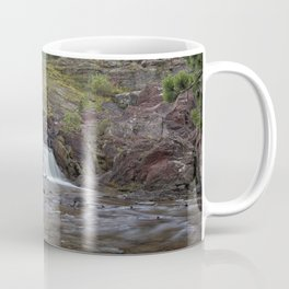 Redrock Falls - Glacier National Park Coffee Mug