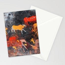 Cave Art Lascaux Deer Hunt Stationery Cards
