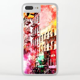 NYC Watercolor Collection - Colorful Soho Clear iPhone Case