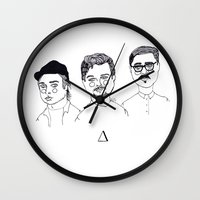 cactei Wall Clocks featuring ∆∆∆ by ☿ cactei ☿