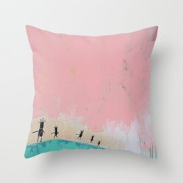 Sunshine Dance 2 Throw Pillow