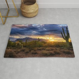 A Sonoran Desert Sunrise Rug