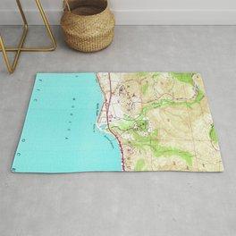 Vintage Map of Malibu California (1950) Rug