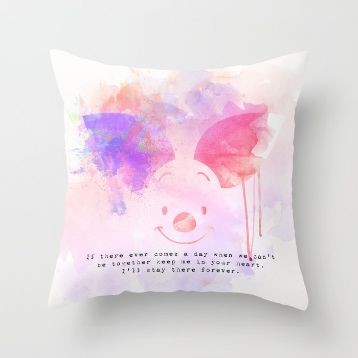 Always Forever - Piglet Throw Pillow