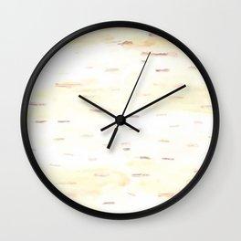 Birch Bark Watercolor Wall Clock