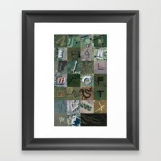 Google Maps Alphabet Framed Art Print