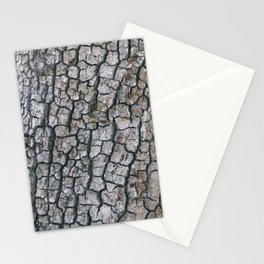 Cracked Bark Texture Stationery Cards