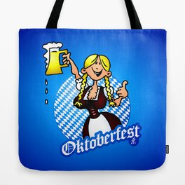 Oktoberfest - girl in a dirndl Tote Bag