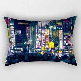 Neon Signs in Tokyo, Japan / Night City Series Rectangular Pillow