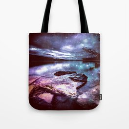 Magical Mountain Lake Colorful Tote Bag