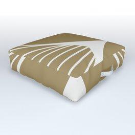 Diamond Series Floral Cross White on Gold Outdoor Floor Cushion