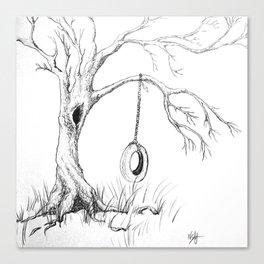 Tire Swing Memories Canvas Print