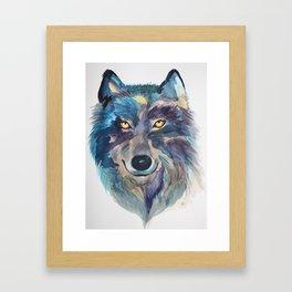 A she-wolf Framed Art Print