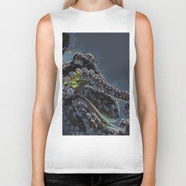 """""""Release the Kraken"""" - Giant Octopus Digital Illustration Biker Tank"""