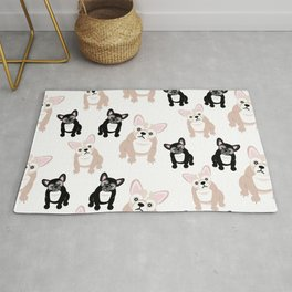 Cute French Bulldog Pattern Rug