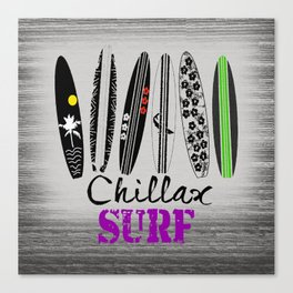 Chillax Surf Canvas Print