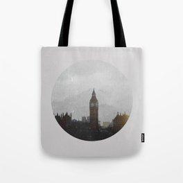 Grungy London Circle Tote Bag