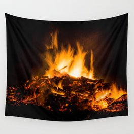 Fire flames Wall Tapestry