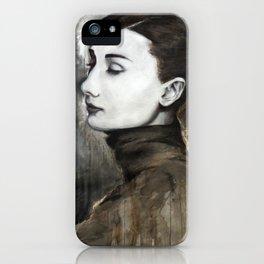 Audrey Hepburn Speed Painting iPhone Case