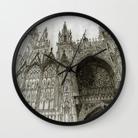 takmaj Wall Clocks featuring Rouen facade by takmaj