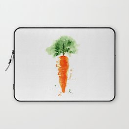 Watercolor orange carrot. Organic vegetable. Original watercolour illustration. Laptop Sleeve