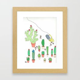 garden snacker III Framed Art Print