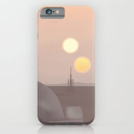 Retro Travel Poster Series - Star Wars - Tatooine iPhone Case