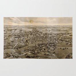 Vintage Pictorial Map of Kennebunk Maine (1895) Rug