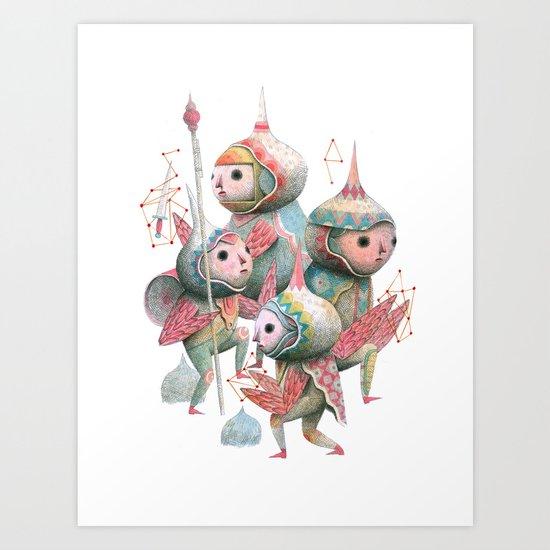 The Crowd 2 Art Print