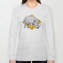 Rhino Yellow Long Sleeve T-shirt