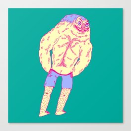 Muscle Butt Canvas Print