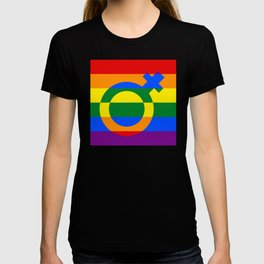 Gay Pride Rainbow Flag Girl Woman Gender Female T-shirt