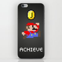 mario iPhone & iPod Skins featuring Mario by eARTh