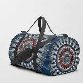 Festive Winter Night Mandala Duffle Bag